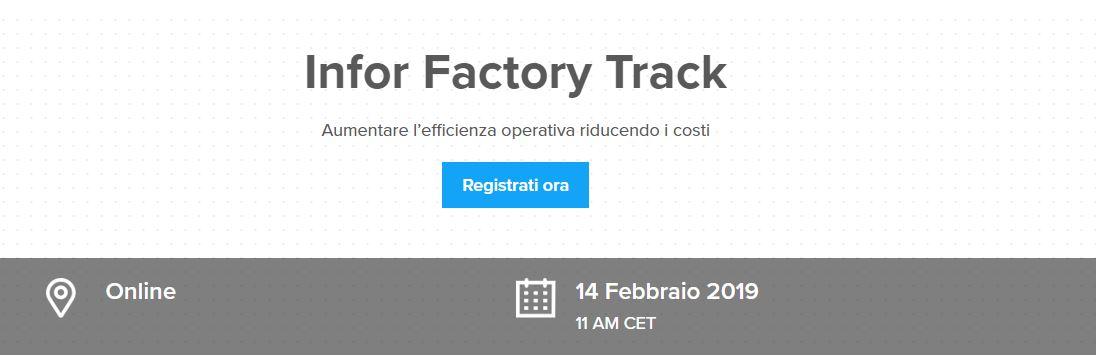 Webinar Infor Factory track
